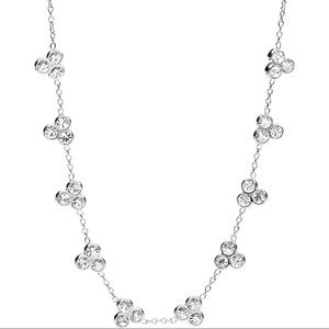 Fossil Glitz dot cluster necklace
